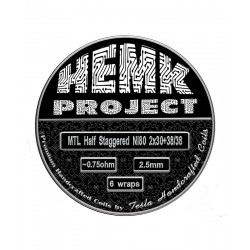 Premade Coils Half Staggered 0.75 Ni80 Hemk Project By Tesla Handcrafted Coil