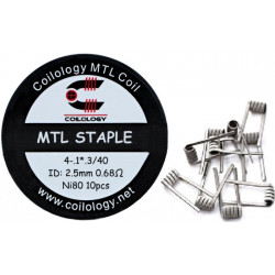 Coilology MTL Pre-Built Coils NI80 SS316L