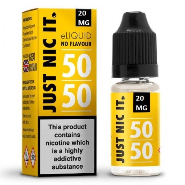 Just Nic It Nicotine Shot 50VG-50PG 20mg 10ml